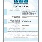 Certificazione ISO 45001 Pomme Manifatture